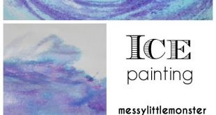 Taste Safe Ice Painting - a fun painting idea for toddlers