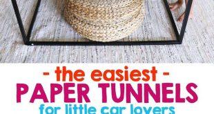 Einfache Papiertunnel für kleine Autoliebhaber #autoliebhaber #childdexterityi...