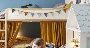 Kinderzimmer Hochbett mit Platz darunter