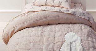 Hoppy Tails Pom Pom Toddler Bedding