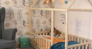 Kids teepee baby bed, toddler bed frame or wooden bed in FULL/DOUBLE size