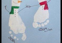 Peindre avec les mains et les pieds pour Noël! 25 idées à voir!