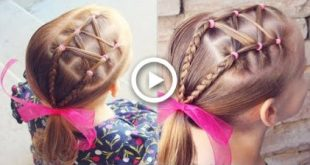 Shoelace Accent into a Side Ponytail | Toddler Hairstyle | Brown Haired Bliss