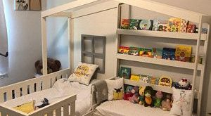 "Solid Wood Full ""Ellie"" Playhouse loft bed"
