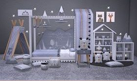 soloriya: Melina, toddlers room. Sims 4