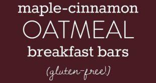 Maple-Cinnamon Oatmeal Breakfast Bars