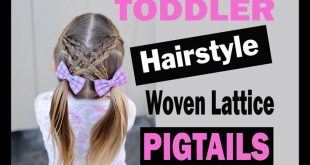 Toddler hairstyle tutorial - woven lattice pigtails