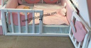 Arkası Çatılı Montessori Yer Yatağı Ortadan Merdivenli 120x200