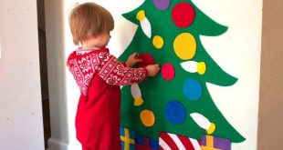 Felt Christmas Tree - 3ft tall - Felt Story - Quiet Toys - Quiet Book - Montessori Felt Board
