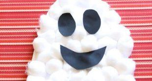 Halloween Handwerk Puffy Ghost
