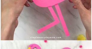 Handabdruck Flamingo Craft für Kinder - #Craft #crafts #Flamingo #Handabdruck #Kids