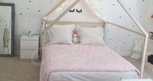 Holz Bett FULL/DOUBLE, Kleinkind Bettrahmen, Zelt Bett, Holzhaus Bettrahmen, Holz Kinderzimmer-Bett-Haus, Babybett, Bett, Lamellen Kinder Bett Geschenk