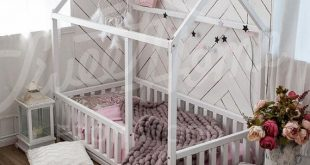 Kleinkind Möbel Tipi Kinder Zuhause Bett, voll / DOPPEL Größe mit SLATS