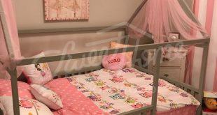 Kleinkindmöbel Tipi Kinderheimbett, FULL / DOUBLE-Größe mit SLATS