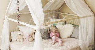 Montessori Kleinkind Betten Rahmen Bett Haus Bett Haus Holzhaus Kinder Tipi Babybett Kinderbett Plattform Bett Kindermöbel voll / Doppel