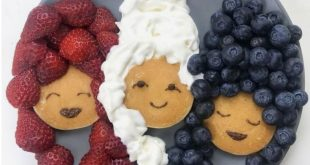 Pancake platter ladies. #funbreakfastideasforkids