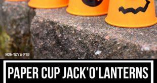 Paper cup Jack'O'Lantern - Youtube Ideen DIY - #Cup #Diy #Ideen #JackOLantern ...