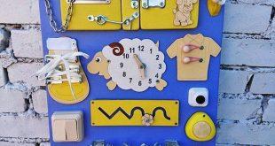 Sensor-Brett-Busy-Brett Montessori Spielzeug Holzspielzeug Riegel Board pädagogische Kleinkind Geschenk Holzspielzeug