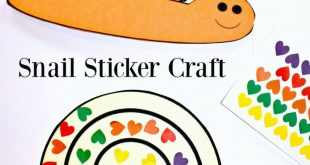 Snail Sticker Craft - FREE printable snail to cover with stickers