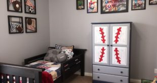 Sports and super-hero themed big boy room! Decor and DIY ideas for your toddler&...