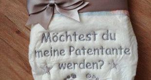 """Windeltorten - Bestickte Windel """"Patentante"""" - ein Designerstück von Karina-15 ..."""
