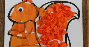 craftingcherubblog #| #Zwei #Eichhörnchen-Handwerk. #Seidenpapier-Eichhörnchen...